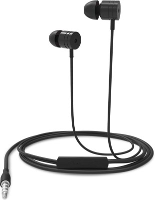 Portronics POR-763 Conch 204 In-Ear Stereo Having 3.5Mm Aux Port Headphone (Black) Wired Headset with Mic(Black, In the Ear)