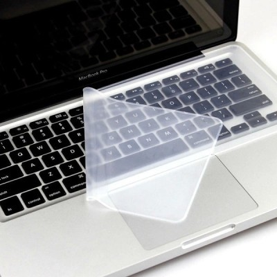 TECHNOCHITRA SILICON UNIVERSAL LAPTOP KEYBOARD PROTECTOR COVER FOR 15.6 INCHES ALL LAPTOPS Keyboard Skin(TRANSPARENT)