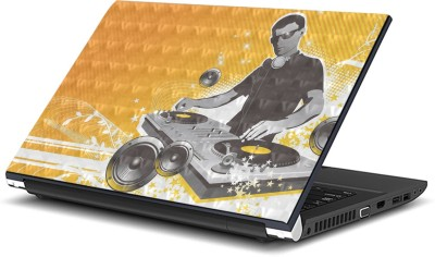ezyPRNT DJ Music F with 3D Illusion effect  15 to 15.6 inch  Vinyl Laptop Decal 15