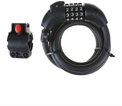Adraxx 4 Digit Bike Resettable Cable Combination Lock(Black)