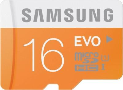 Samsung Evo 16 GB MicroSD Card Class 10 48 MB/s  Memory Card