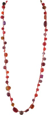 Ornamenta Ornamenta Fashion Handmade Beaded Long Multi color Necklace with Glass Beads Alloy Necklace  available at flipkart for Rs.189