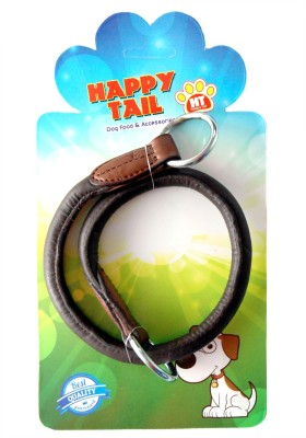 Happy Tail HAPPY TAIL ROUND LEATHER CHOKE COLLAR 1 cm Dog Chain Leash(Brown)  available at flipkart for Rs.243