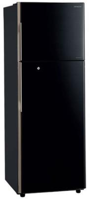 Hitachi 318 L Frost Free Double Door Refrigerator(Pure Black, R-H350PND4K (PBK))