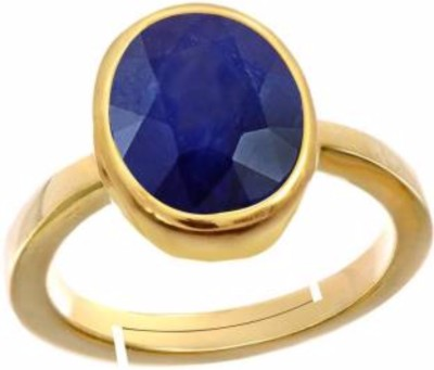 AJ AJ Retail Sapphire Neelam 6.8cts or 7.25ratti Panchdhatu Adjustable Ring Copper Sapphire Copper Plated Ring at flipkart