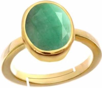 AJ CHIRAG GEMS 7.25 RATTI PANNA RING Copper Emerald Copper Plated Ring at flipkart