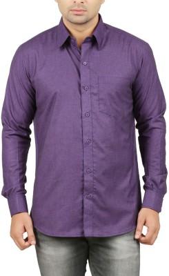 LEAFLIME Men's Solid Formal Dark Blue Shirt