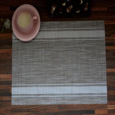NestRoots Rectangular Pack of 6 Table Placemat(Grey, PVC (Polyvinyl Chloride)) at flipkart