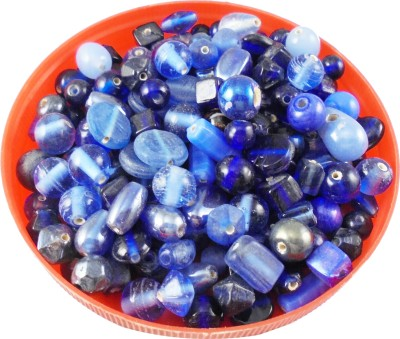 estore Blue color handmade glass beads mixing 100 gm, 5 to 15 mm,approx 110 beads for art & craft , jewellery making DIY kit  available at flipkart for Rs.149