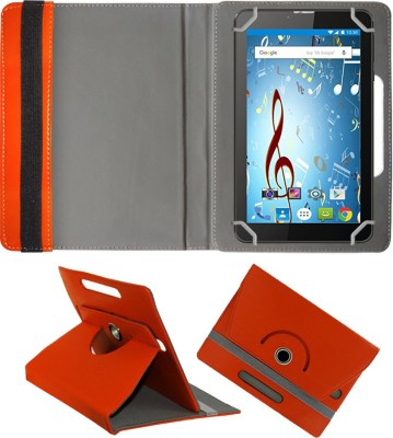 Fastway Book Cover for I Kall N9 7 inch Tablet(Orange, Cases with Holder)