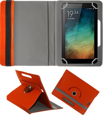 Fastway Book Cover for Micromax Canvas Tab P701 7 inch(Orange, Cases with Holder)