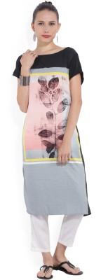 Melange by Lifestyle Women Solid, Self Design Straight Kurta(Pink)