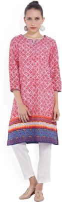 Melange by Lifestyle Women Solid Straight Kurta(Beige)