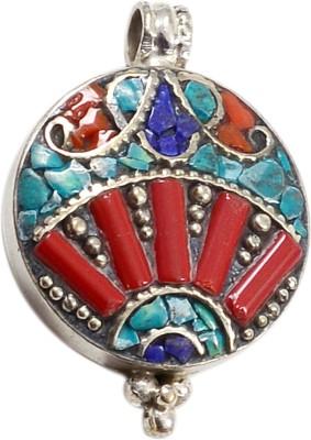 Silver Prince Designer Lapis Lazuli, Coral Silver Pendant