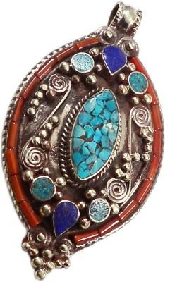 Silvesto India PG-117594 Silver Lapis Lazuli, Coral, Turquoise Stone