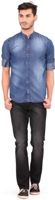 Ala Mode Men Solid Casual Mandarin Shirt