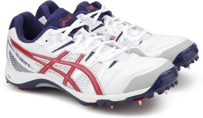 Asics GEL GULLY 5 Cricket Shoes For Men(White, Whitetrue