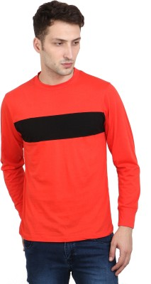 Scorpius Solid Men Round Neck Red T-Shirt