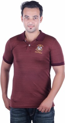 HARBOR N BAY Solid Men's Polo Neck Brown T-Shirt