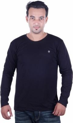 HARBOR N BAY Solid Men's Round Neck Dark Blue T-Shirt