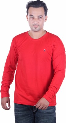 HARBOR N BAY Solid Men's Round Neck Red T-Shirt