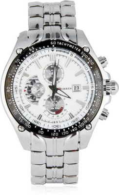 Curren CUR 02 Metal Chain Analog Watch   For Men Curren Wrist Watches