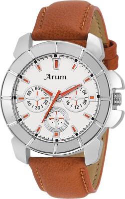 arum ASMW-19 Black Dial Silver Chain Watch  - For Men