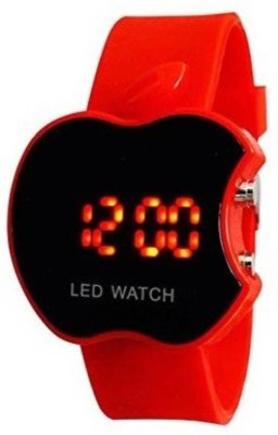 Fashion Gateway Red Apple shape kids LED digital watch with date and day display LED Watch Digital Watch   For Boys   Girls