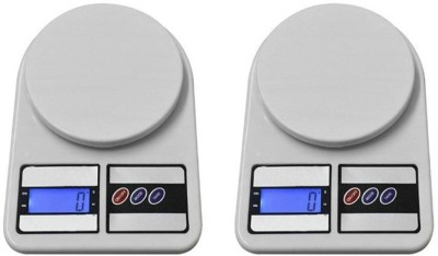 Sadarbazaarsales.Com New Digital Electronic (Pack of 2) SF 400 5Kg Kitchen Weighing Scale(Multicolor)  available at flipkart for Rs.698