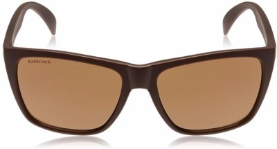 Fastrack Retro Square Sunglasses(Black)