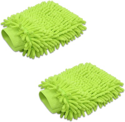 Stealodeal Microfiber, Polyester Vehicle Washing  Hand Glove(Pack Of 2)