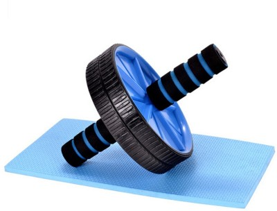 S.Blaze Blue AB Wheel Roller for ABs Exerciser with Knee Mat Ab Exerciser(Blue)  available at flipkart for Rs.299