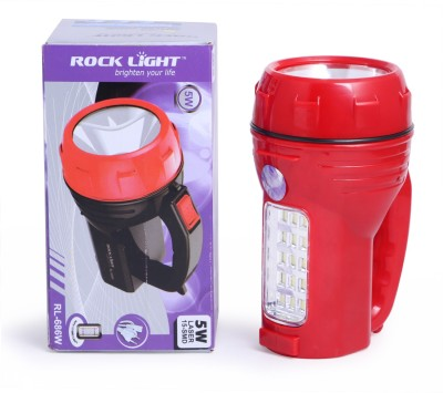 Rocklight Rechargable Led RL686W Torch(Red : Rechargeable) at flipkart