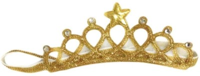 ziory Golden Baby Girl Baby Boy Unisex Rhinestone Crown Headbands Toddler Princess Hair Accessories Baby Girl's Birthday Gift Tiara Crown Headband Head Band(Gold)  available at flipkart for Rs.349