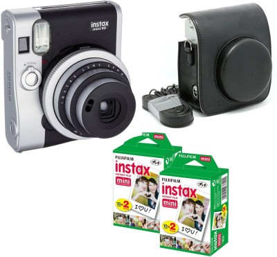 Fujifilm Mini 90 Black with Black case & 40 Shots Instant Camera(Black)