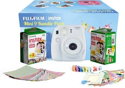 Fujifilm Instax Camera Mini 9 Bundle Pack Instant Camera(White)