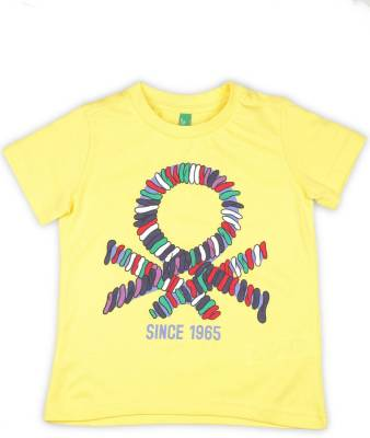 United Colors of Benetton. Boys Solid Cotton T Shirt