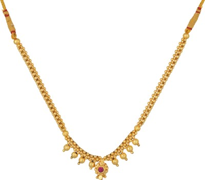Desi Gurl Crystal 10K Yellow Gold Plated Metal Necklace Set  available at flipkart for Rs.280
