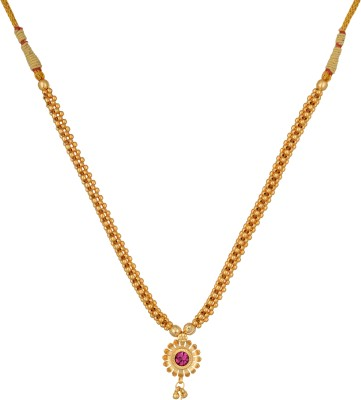 Desi Gurl Crystal 10K Yellow Gold Plated Metal Necklace Set  available at flipkart for Rs.258