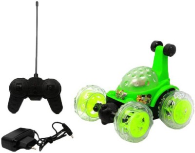 Dhawani Green Plastic Ben 10 Rechargeable Stunt Car(Green)