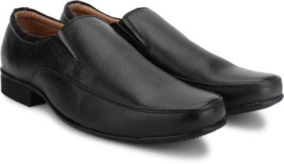 Provogue Genuine Leather Slip On(Black)