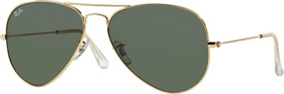 Ray-Ban Aviator Sunglasses(Green) at flipkart