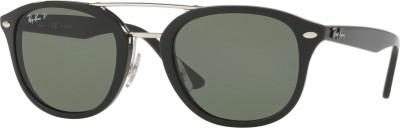 Ray-Ban Retro Square Sunglasses(Green) at flipkart