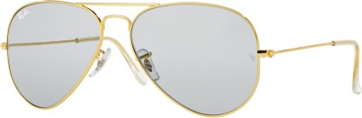 Ray-Ban Aviator Sunglasses(Grey) at flipkart