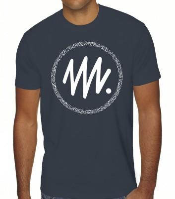 BROWN SUGAR Printed Men Round Neck Dark Blue T-Shirt Flipkart