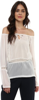 MAYRA Casual Full Sleeve Solid Women White Top MAYRA Women's Tops