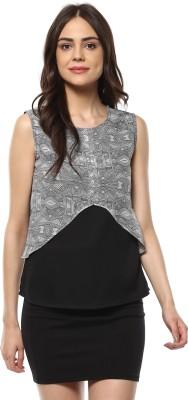 MAYRA Casual Sleeveless Printed Women Black Top MAYRA Women's Tops