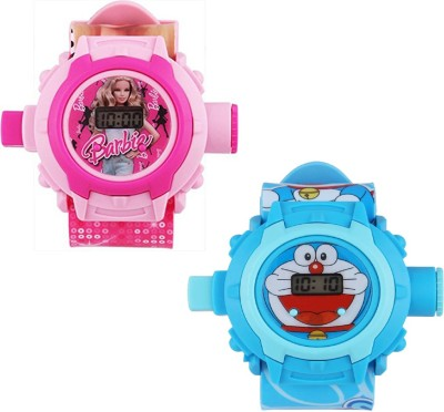 Arihant Retails ( Barbie and Doraemon ) Pink::Blue Digital Watch  - For Boys & Girls