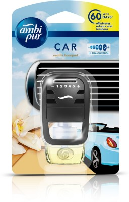 Ambi Pur Car Vanilla Bouquet Air Freshener Starter(7.5 ml)  available at flipkart for Rs.375
