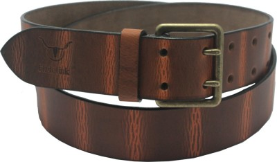 Hidelink Men & Women Formal Brown Genuine Leather Belt